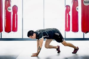 An instructor at Virgin Active demonstrating Zuu, a high-intensity interval training session. - PHOTO: VIRGIN ACTIVE