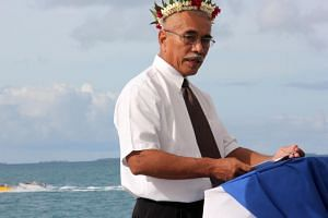 """The most likely scenario is as the sea level rises our islands will become uninhabitable,"" Kiribati President Anote Tong told The Straits Times in an interview."