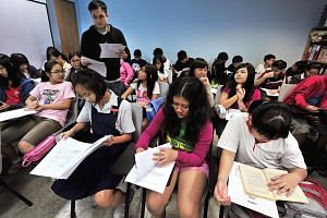 Students at Kent Ridge Tuition Centre.