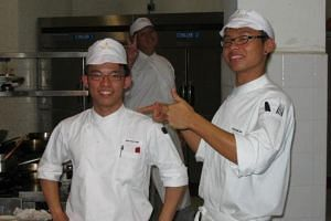 Mr Dylan Ong (left) and Mr Joshua Khoo during their Shatec days.