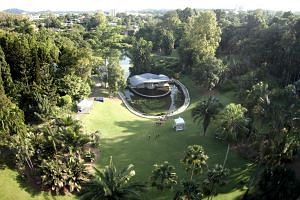 An aerial view of the Botanic Gardens
