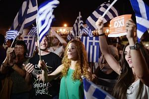 """There was much jubilation in Athens on Sunday night as Greeks voted """"no"""" in the referendum on more austerity measures."""