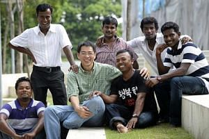 Dr Tan Lai Yong gives free medical treatment and advice to Bangladeshi and Indian foreign workers, and takes them on weekly outings, such as this one to University Town.