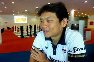 In a public apology issued yesterday, Mr Vincent Ang (above), a bronze medallist at the SEA Games, admitted punching and slapping fellow national cyclist Ang Kee Meng while on a training ride and later at a food centre.