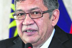 Attorney-general Tan Sri Abdul Gani Patail giving a press conference at his office in Putrajaya.
