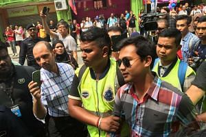 Malaysian police made arrests at a rally calling for the Prime Minister's resignation at Sogo Shopping Complex on Saturday, August 1, 2015.