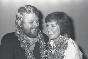 British singer Cilla Black, then 34 years old, performed in Singapore in 1977. She is seen here with her husband songwriter Bobby Willis.