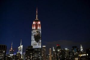 An image of Cecil the lion, which was killed by a wealthy Minnesota dentist last month, was projected onto the Empire State Building to raise awareness about the plight of endangered animals.