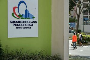 The Aljunied-Hougang-Punggol East Town Council (AHPETC) at Block 701, Hougang Ave 2. PHOTO: ST FILE