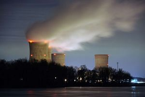 The Three Mile Island nuclear power plant is seen across the Susquehanna River in Middletown, Pennsylvania on Mar 15, 2011.