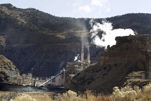 The coal-fired Castle Gate Power Plant outside Helper, Utah on Nov 27, 2012. The plant was closed in the Spring of 2015 in anticipation of new EPA regulations.
