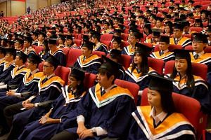 Nanyang Technological University graduates at their convocation ceremony in 2014.