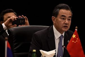 Chinese Foreign minister Wang Yi during the 48th Asean Foreign Ministers meeting on Aug 5, 2015.