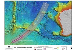 An image from Australian officials shows the search area for MH370.