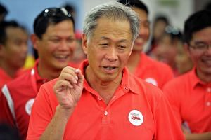 Minister for Defence Dr Ng Eng Hen at the NDP15 National Education (NE) Show 3.