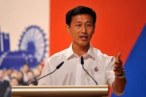 Ong Ye Kung speaking at the Young PAP's 25th anniversary celebrations on April 17, 2011.