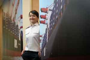 Ms Lim Pio Teo, 27, who fulfilled a childhood dream to become a maritime engineer, is now a second engineer with global shipping company APL. She hopes to work her way up to become the chief engineer of a vessel.