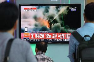 South Korea's TV stations yesterday carried news - and pictures - of rocket firing by the North.