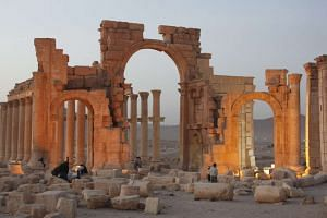 A picture taken on Nov 12, 2010, shows the general view of the ancient city of Palmyra in central Syria. According to media reports, the temple of Baal Shamin, built in AD17, was blown up by ISIS militants.
