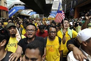 The huge crowd at the Bersih 3.0 rally on April 28, 2012.