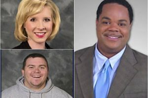 Journalists Alison Parker (top left) and Adam Ward (bottom left) were allegedly shot and killed by Vester Lee Flanagan during a live TV interview.