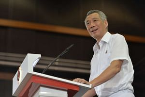 PM Lee speaking to party members at the launch of the PAP 2015 General Election Manifesto on Aug 29, 2015.