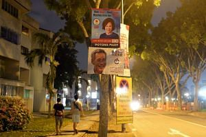Election posters in Potong Pasir SMC.