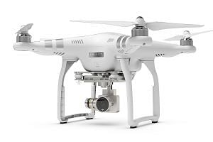The DJI Phantom 3 comes in three variants - Standard, Advanced and Professional - which differ only in their cameras. It is responsive and easy to use, and its 1.3kg weight, 60cm diameter and three-axis gimbal image stabilisation make for very steady