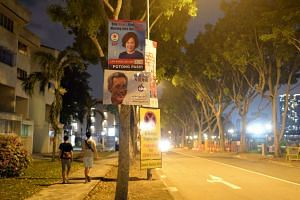 A poster of Mr Lee Hsien Loong seen in Potong Pasir SMC on Sept 2.
