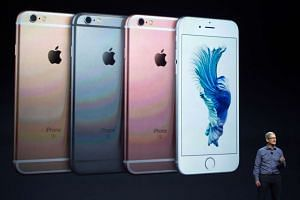 Apple CEO Tim Cook introduces the iPhone 6s during an Apple media event in San Francisco, California on Sept 9, 2015.