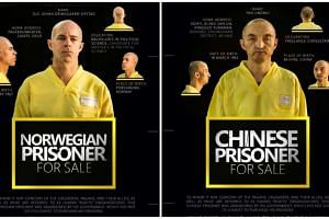 Images posted on Twitter of alleged Norwegian and Chinese hostages.