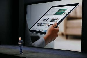 The iPad Pro features a large 12.9-inch touchscreen display.