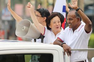 Law and Foreign Minister K Shanmugam at the Thank You parade in Nee Soon GRC on Sept 12, 2015.
