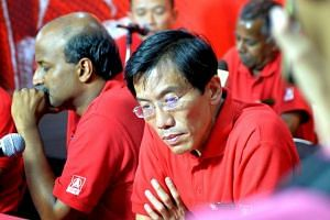 SDP chief Chee Soon Juan at a press conference to assess his party's performance at the 2015 General Election.