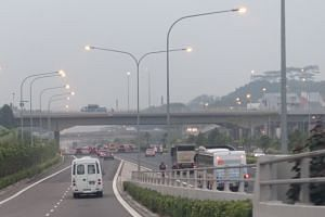 Traffic along The Tampines Expressway (TPE) at 7.10am on Tuesday, Sept 15, 2015.