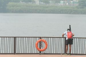The haze at Lower Seletar Reservoir last Saturday. As protest efforts continue, it is important for now to give more thought to what Singapore could effectively do to mitigate the ill effects of transboundary haze on the economy, our health and our e