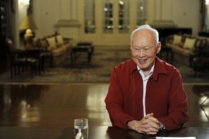 Mr Lee Kuan Yew during an interview on Aug 14, 2009.