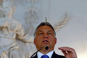 Hungarian Prime Minister Viktor Orban during a news conference on Sept 23, 2015.
