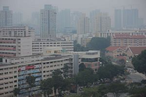 The haze situation in Bishan at around 6.50pm on Sept 27, 2015.