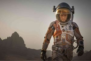 Matt Damon stars in The Martian as an astronaut stranded on the red planet.