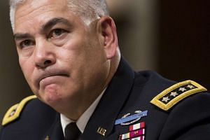 """General Campbell testifies on  """"The Situation in Afghanistan""""."""