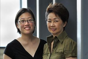 Ms Nancy Chin (right), president of the Lupus Association Singapore, with association volunteer and fellow lupus sufferer Jennie Sokolik.