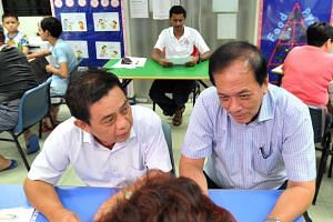 Winner and losers: Mr Charles Chong's first Meet-the-People Session at the PAP Punggol East Branch on Sept 14.