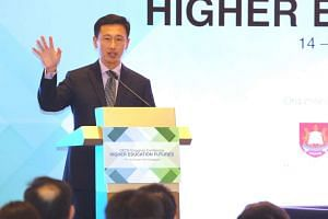 Acting Minister for Education Ong Ye Kung speaking at the opening of the OECD-Singapore Conference on Higher Education Futures at Resorts World Sentosa.