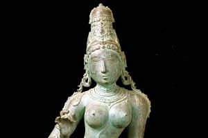 The Uma Parameshvari statue, which is being returned to India.