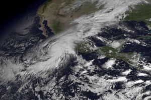 A satellite image of Hurricane Patricia.