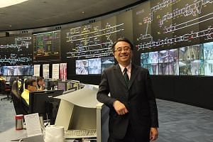 MTR Corporation's director of operations, Dr Jacob Kam, at the Super Operations Control Centre, the central nervous system of the entire MTR network. Hong Kong's rail network has an