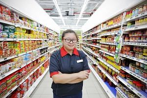 NorthLight Academy student Joslyn Low took two months to get familiar with her work at FairPrice supermarket's online sales section.