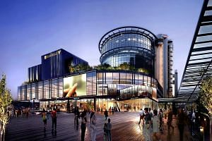 An artist's impression of the new Singapore Post mall, which will comprise four levels and one basement, an eight-hall cineplex, a post office, shops and food and beverage outlets.