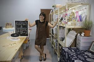 Ms Corine Yeoh used to sell cakes from home before renting a kitchen co-working space. This eventually gave her the confidence to scale up her business and open a shop.
